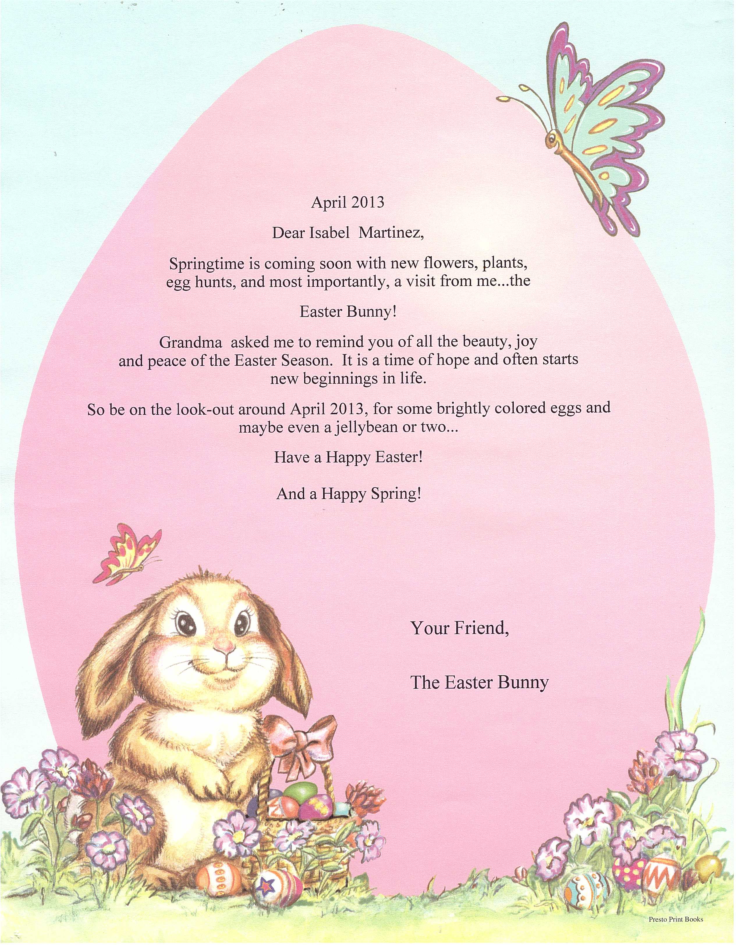 Letter from the easter bunny spiritdancerdesigns Images