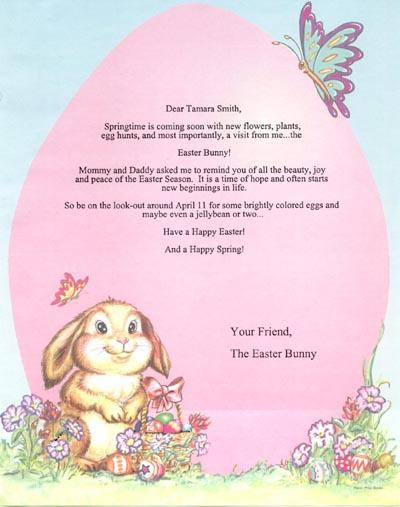 You are here: Home / Products / Letter from the Easter Bunny