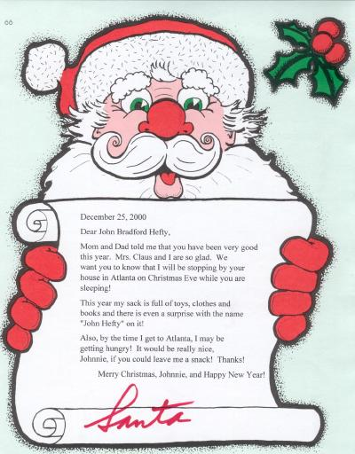 letter about santa claus letter from santa claus 9900